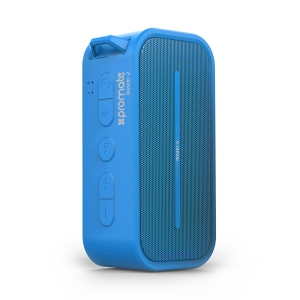 Promate Rustic-2 Portable IPX5 Water Resistant Wireless Speaker - Blue
