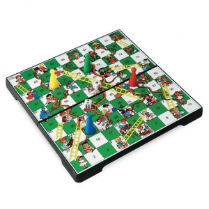 Prosports - Magnetic 3 in 1 Game Board : Snakes & Ladders +  Chess + Draught