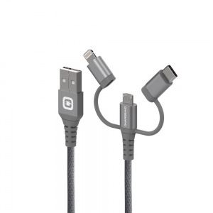 Chargeaid - Charging Cable 3 in 1 - 2M - Gray