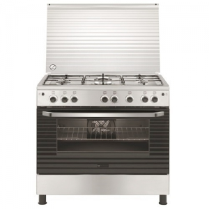 Whitewestinghouse Gas Cooker 90x60cm - 5 Burner - Stainless Steel