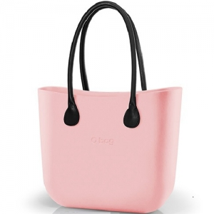 O bag Body Powder Pink Color With Inner Canves Brown Color With Short Handle and Shoulder Both Natural Leather Brown Color - OBDY06-OBHS02-OBHLS02-OBHK05