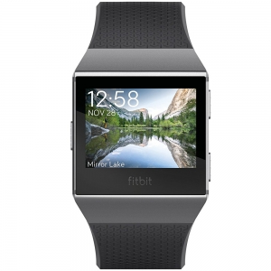 Fitbit Ionic Wristband With Heart Rate - Charcoal/Smoke Gray - One Size (S & L Bands Included)