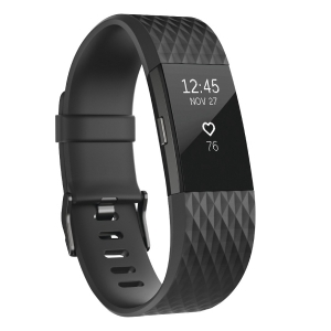 Fitbit Charge 2 Heart Rate + Fitness Wristband - Large - Gun Metal