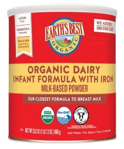 Earth's Best Organic Infant Powder Formula With Iron, Omega-3 DHA & Omega-6 Ara 23.2 Ounce