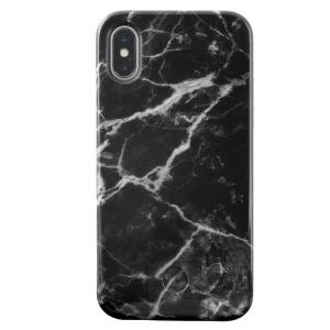 LuMee Selfie Case for iPhone X - Black Marble