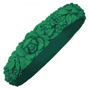 Obag - Slim Flower Bracelet - Emerald Green
