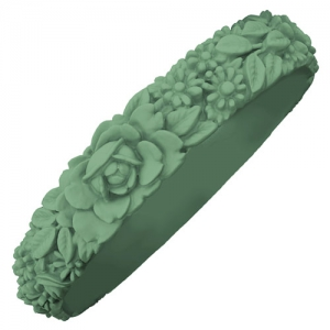 Obag - Slim Flower Bracelet - Sage Green