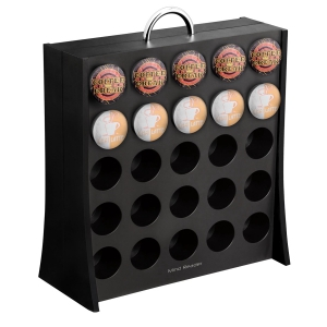 Mind Reader Coffee Pod Storage Rack, Holds 50 K-Cup Coffee Pods, Self Locking, Black