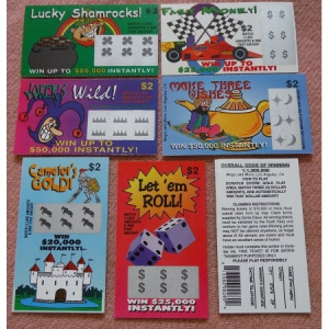 Fake Lottery Tickets- Two Sets of 6 Tickets, Each ticket a Fake Winner!