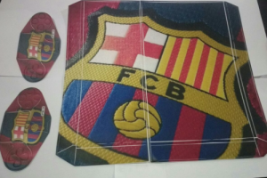 Barcelona Playstation Sticker  - Red / White