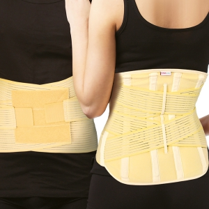 Tonus Elast - Elastic Medical Belt - With Crossed Metal Inserts and Reinforcement Straps for Lumbar Spine Fixation Comfort