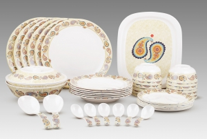 Dinewell Melamine Paisely Dinner Set