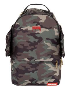 Sprayground Gold Camo Drip Wings Backpack - SP-TT017