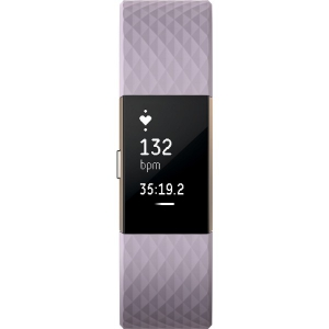 Fitbit Charge 2 Heart Rate + Fitness Wristband - Large - Rose Gold