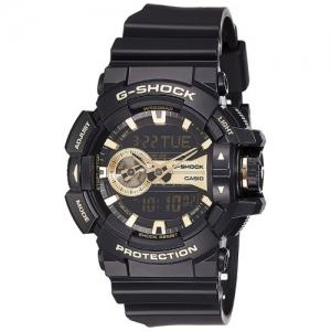 Casio G-Shock Men\'s Analog Digital Gold Dial Watch - GA-400GB-1A9DR