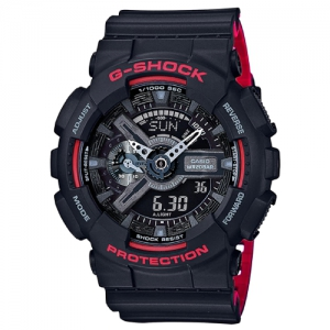 Casio G-Shock Analog-Digital Black and Red Sports Watch