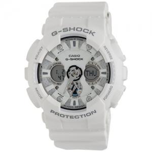 Casio G-Shock White Dial & White Strap Digital Watch - GA-120A-7ADR