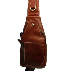 Zunash Men's Genuine Leather Chest Shoulder Bag - ZSB-5040-U-BN