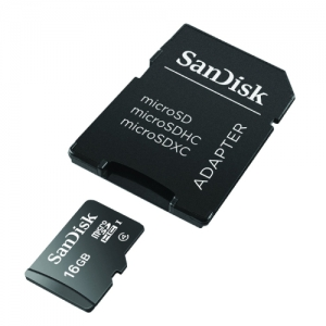 SanDisk microSDHC Memory Card Class 4 With SD Adapter