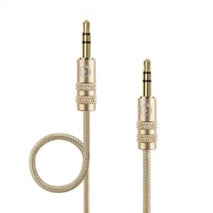 Turtle Brand Aluminum Aux Cable 3.5mm TB0043 - Gold