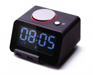 Homtime - C1 Pro Bluetooth Alarm Clock Speaker with Dual USB Charger