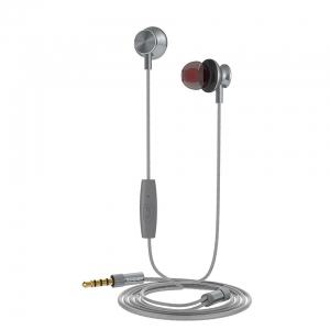 Muvit M1I Steel Stereo in-ear Earphones 3.5mm Microphone Dark Grey