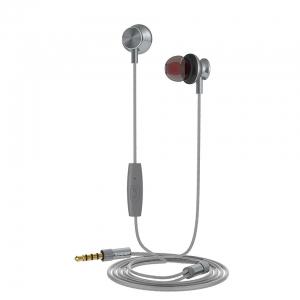 Muvit M1I Steel Stereo in-ear Earphones 3.5mm Microphone Dark Grey