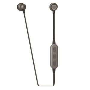Muvit M2B Steel Stereo Earphones Wireless Microphone - Dark Grey