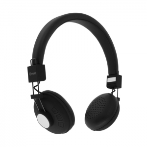 Muvit N1W Stereo Headphones Wireless With Microphone - Black