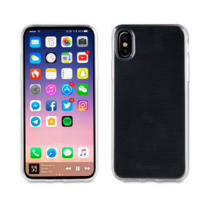Muvit Crystal Soft Transparent Case for Apple iPhone X