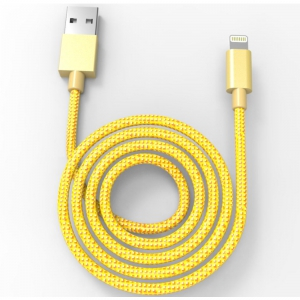 Muvit Lightning Braided Cable - 1m - Gold