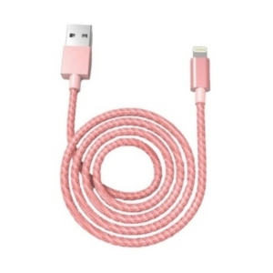 Muvit Lightning Braided Cable - 1m - Rose Gold