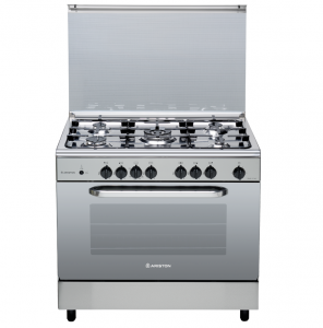 Ariston Gas Cooker 5 Burner Stainless Steel