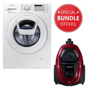 Samsung  Washing Machine With EcoBubble - 8kg - WW80k5413WW +  Free Gift Vacuum Cleaner Bagless 1800 W - VC18M31A0HP