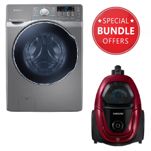 Samsung Washing Machine - WD18H7300KP/NQ + Free Vacuum Cleaner Bagless 1800 W - VC18M31A0HP