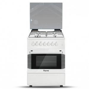 Ferre Gas Cooker 4 Burner 60*60 - White