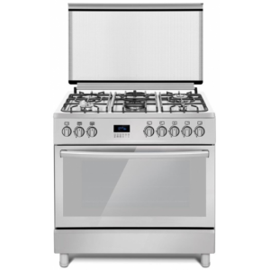 Ferre Gas Cooker 5 Burner 60*90 - Stainless Steel Cast Iron Pan & Digital Panel