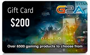 G2A Gift Card 200$