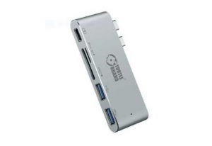 Turtle Brand Type-C Multi-Port Hub with SD Card Slots - Space Gray