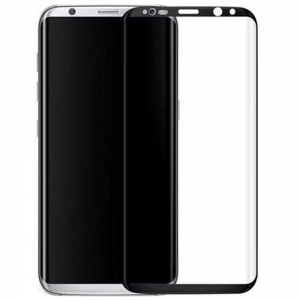 Turtle Brand 3D Glass for Galaxy S8 - Black