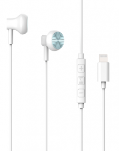 Turtle Brand Active Buds Stereo Earphone with Lightning Connector - White