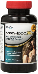 LegacyNutra - Manhood XL Male Enhancement Pills Dietary Supplement, 60 Capsules