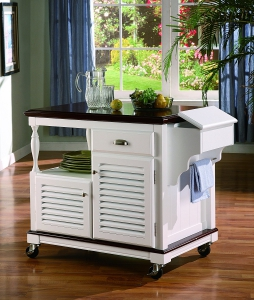 Coaster Home Furnishings - Traditional Kitchen Cart, White - 910013