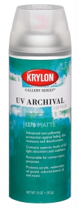 Krylon K01378000 Gallery Series UV Archival Varnish Aerosol Spray - Matte - 11 Ounce