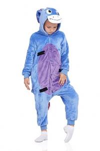 Nothing but Love Kids Donkey Pajamas Animal Onesie Kigurumi Plush Soft One Piece Cosplay Costume