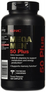 GNC Mega Men 50 Plus - 120 Caplets