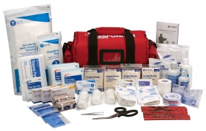 First Aid Only First Responder Kit, Large Red Bag - 158 Pieces