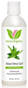 Amara Organics Aloe Vera Gel from Organic Cold Pressed Aloe - 8 Fl.oz.