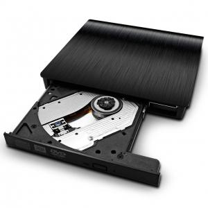 Hyfanda USB 3.0 Ultra Slim Portable High-Speed Optical CD/DVD Drive Black