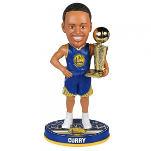 Forever Collectibles - Golden State Warriors Curry S. NBA Champions Bobble - Road - #30